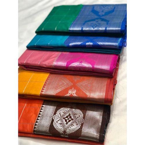 DLS13-  Lichi Silk with jacqard weave pallu