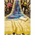 DJL08-  Jacquard Linen Silk Sarees