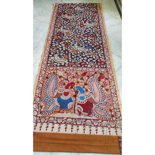DK08 - Vegetable coloured Mangalgiri cotton Kalamkari Sarees