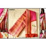 DKC1SKA2-P-MUV042-Hand painted Half and Half Pure Silk saree