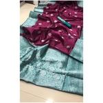 DSS03-  Soft Silk saree with silver zari border
