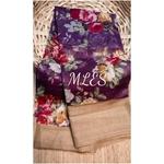 DLS09- Floral Linen Silk Sarees