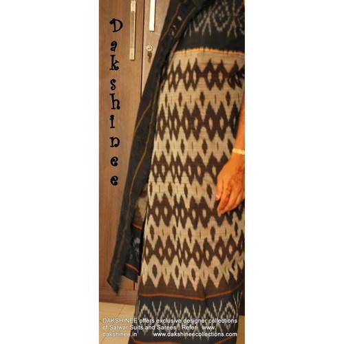 DKC1COA8-PCB001-R - Handloom Pochampalli Cotton saree