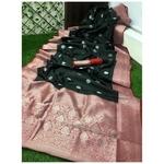 DSS05-  Soft Silk saree with silver zari border