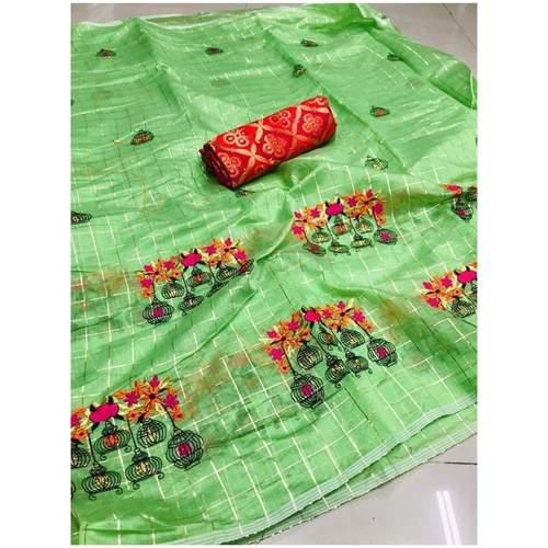DMC04 - Modal cotton chex with banglori silk blouse