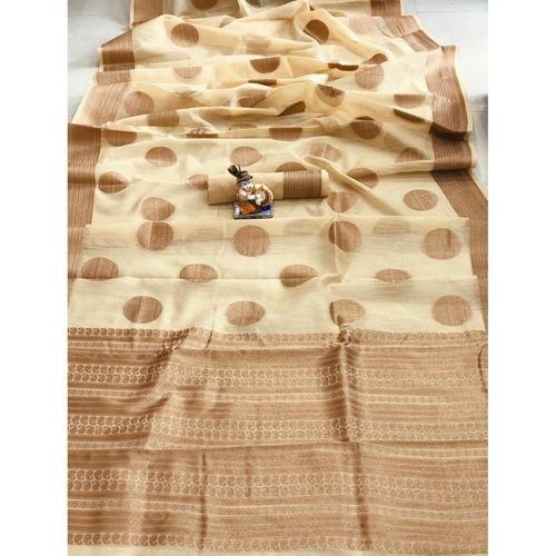 DSLC04 - Soft Linen Cotton weave Saree