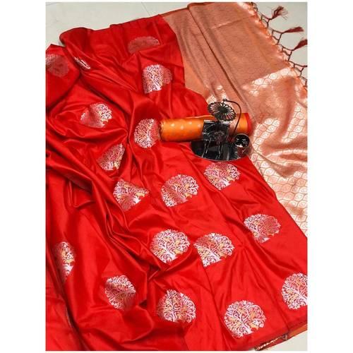 DLJ03-  Lilchi Silk Jacquard woven Saree