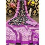 DJL03-  Jacquard Linen Silk Sarees
