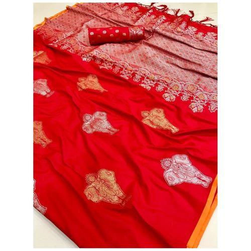 DLS16- Lichi Silk with jacqard weave pallu
