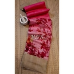 DLS15- Floral Linen Silk Sarees