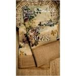 DLS18- Floral Linen Silk Sarees