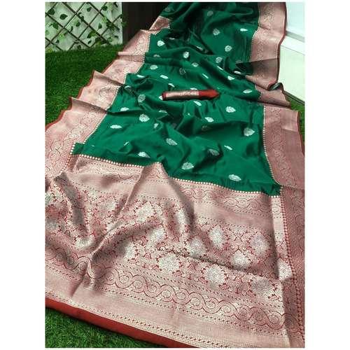 DSS07-  Soft Silk saree with silver zari border