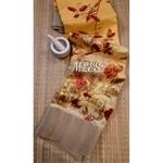 DLS10- Floral Linen Silk Sarees