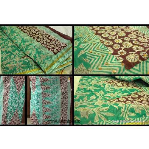DKC1COA5-DKG003-P - Dhaka cotton saree