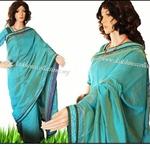 DKC1SCA12-SCB051 -Designer ikkat bordered silk cotton saree