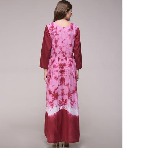 Maroon Tie Dye Dress