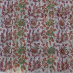 Red Green Silk Organza Handloom Block Printed Stole/Dupatta