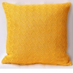 Yellow Cotton Lurex Knitted Cushion cover (Set of 2)