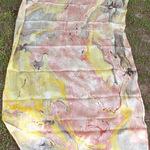 Yellow Pink Banana Silk StoleDupatta