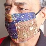 Reusable Kantha Mask Set of 2