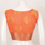 Handcrafted Sleeveless Princess Cut Banarasi Silk Cotton Blouse With Floral Butis
