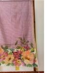 Hand Painted Floral Handwoven  Cotton Stole/Dupatta