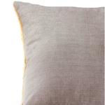 "Yellow Cotton Lurex Gathered Cushion cover-18""x18"""