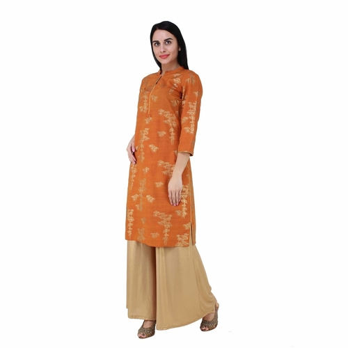 Yellow Gold Printed Kurta