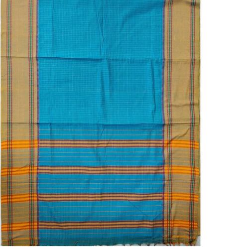 Blue Narayanpet Handloom Cotton Saree