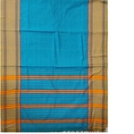 Blue Narayanpet Handloom Cotton Saree