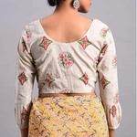 Beige Cotton Dabu Blouse