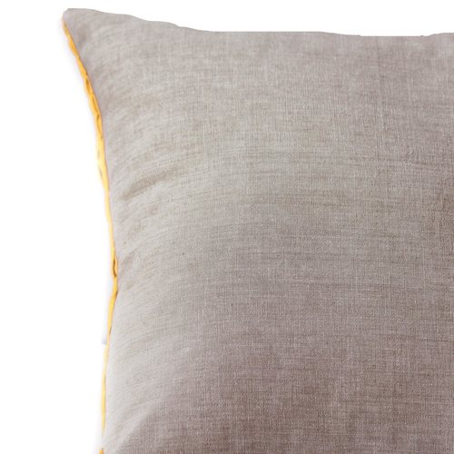 Yellow Cotton Lurex Gathered Cushion cover (Set Of 2)