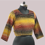 Multi Colored Cotton Ikat Blouse