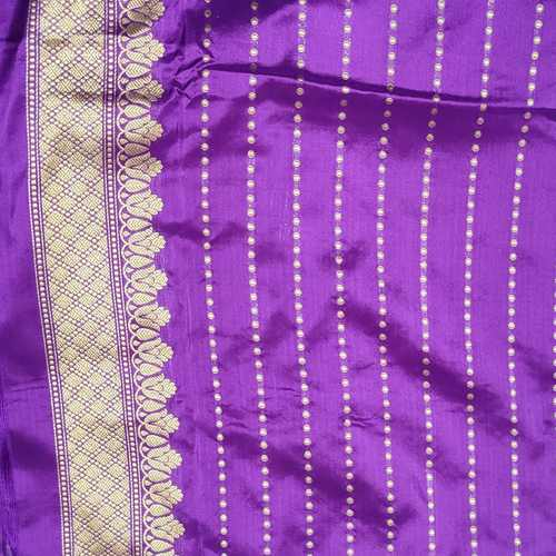 Purple Handloom Benarsi Silk Saree