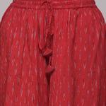 Red Cotton Ikat Palazzo