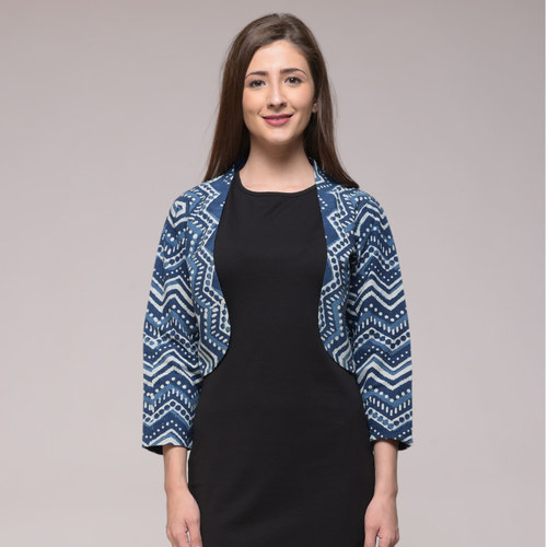 Chevron Printed Shrug