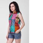 Vintage Silk Kantha Nehru Jacket