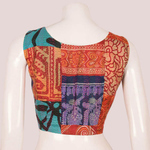Vintage Silk Kantha Sleeveless Blouse