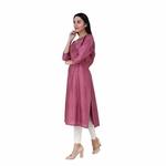 Pink Cotton silk Kurta