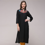 Vintage Silk Kantha Patched Tunic