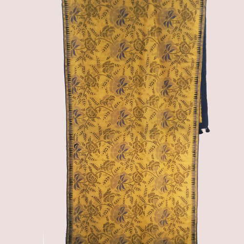 Cotton Hand Kantha Embroidered Dupatta