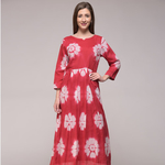 Red Floral Maxi