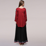 Red Pleated Applique Ensemble Set of 2