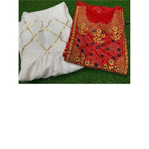 Golden Zari Kurta And Sharara Set