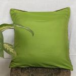Green Blue Stripe Patch Brocade Cushion Cover 16x16