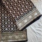 Black Silk Benarsi Saree