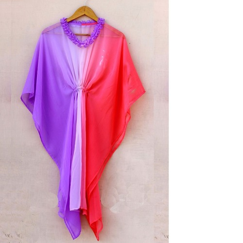 Purple Ombre Dyed  Chiffon Kaftan