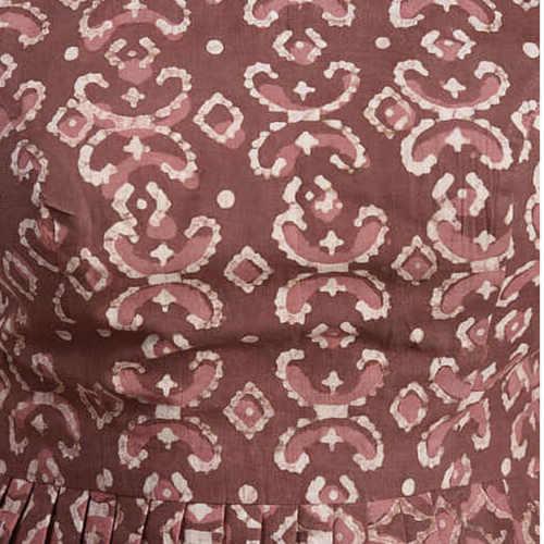 Rust Dabu Cotton Blouse