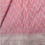 Pink Benarsi Cotton Silk Saree by Destitute Lok Kalyan Silk Bunkar