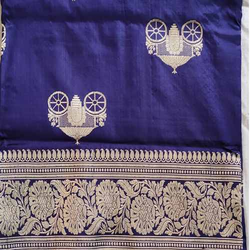 Blue Benarsi Silk Saree